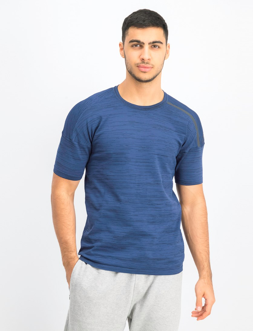 Men's Knit T-Shirt, Navy Blue