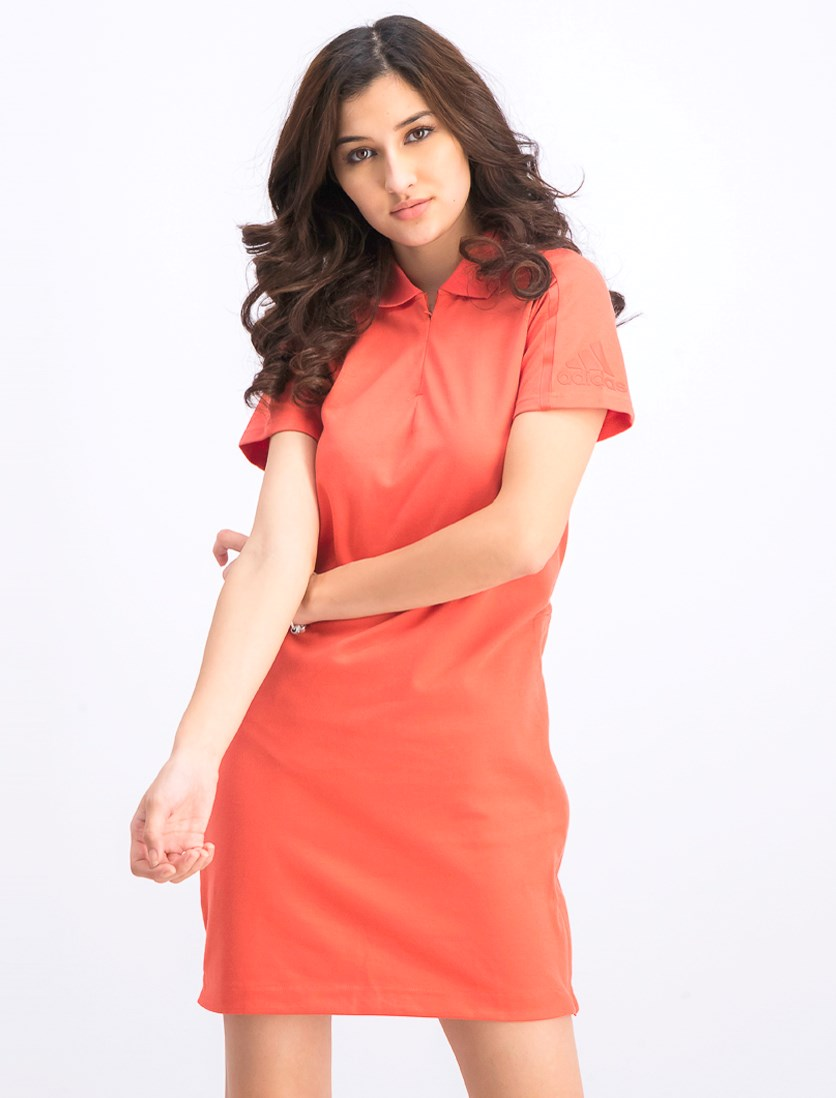 Women's Short Sleeve Dress, Trace Scarlet