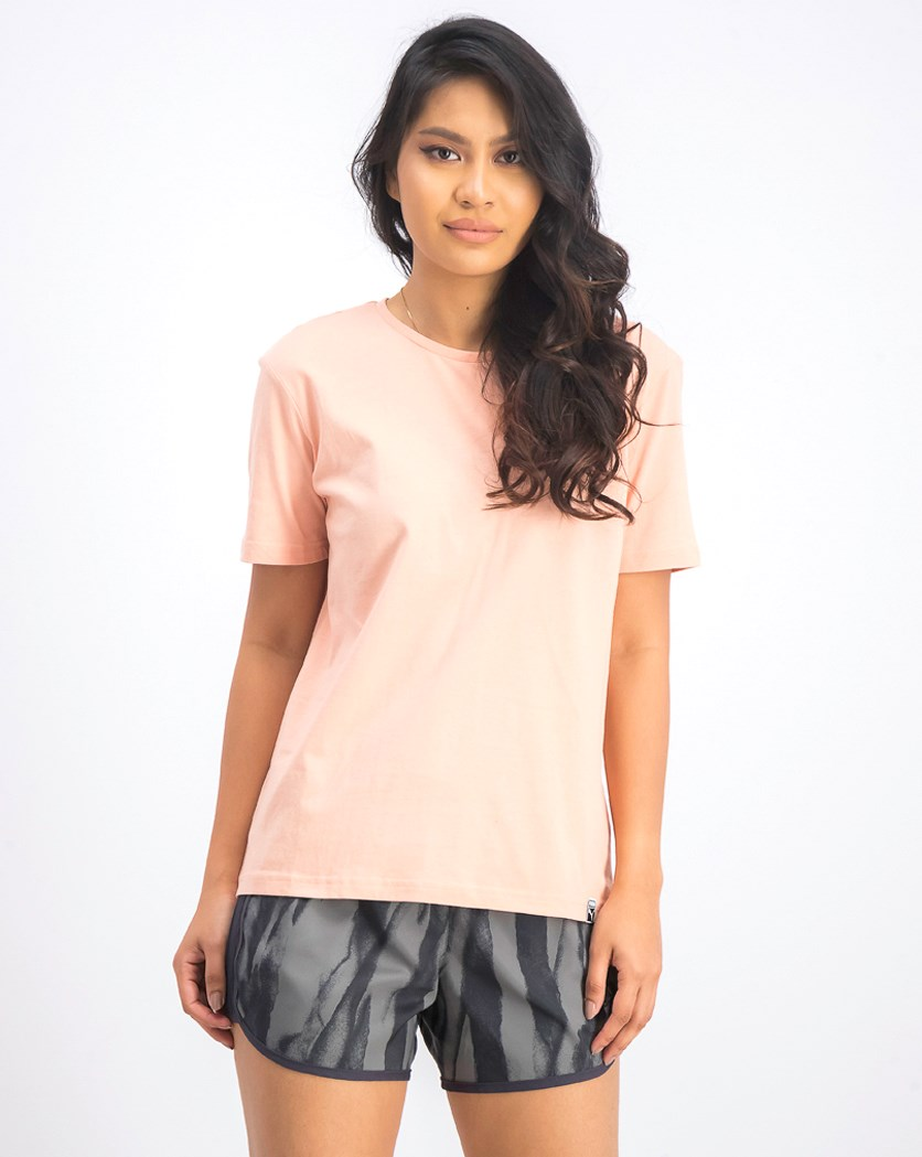 Women's Graphic Tee, Peach Beige