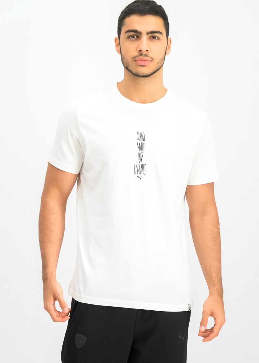 Men's Slogan Tee, White