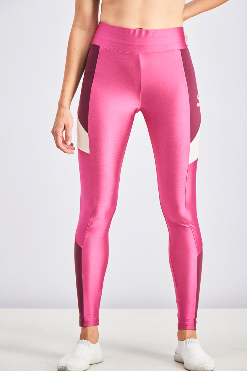 Women's Retro Leggings, Fuchsia