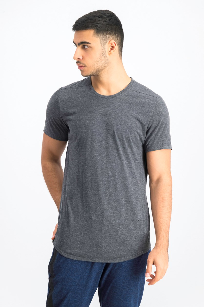 Men's Short Sleeve Pure Tee, Heather Grey