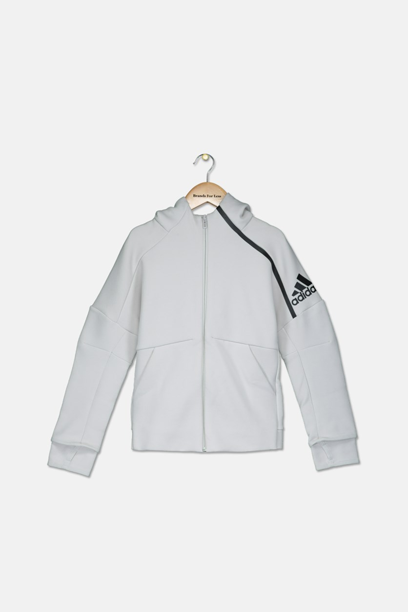 Boy's Long Sleeve  Hooded Jacket, Cream