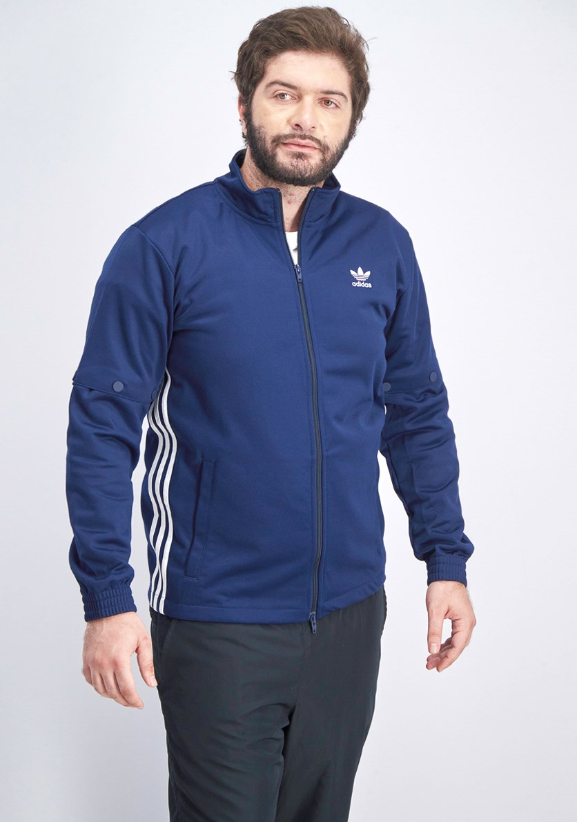 Men's Snap Track Jacket, Navy