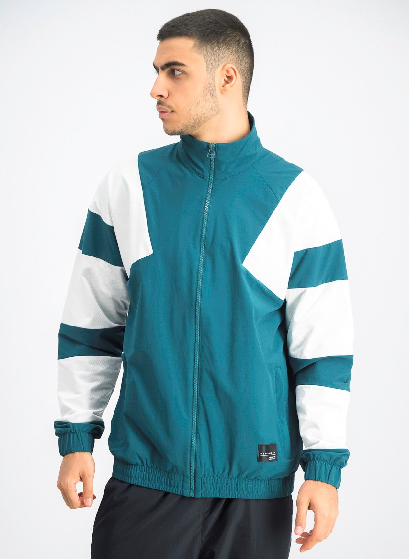 Men's Sports Jacket, Green/White