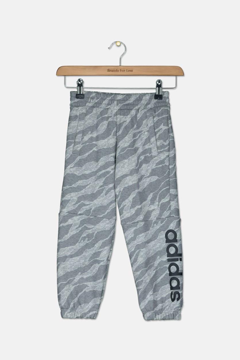 Boy's Linear Textured Sweatpants, Gray