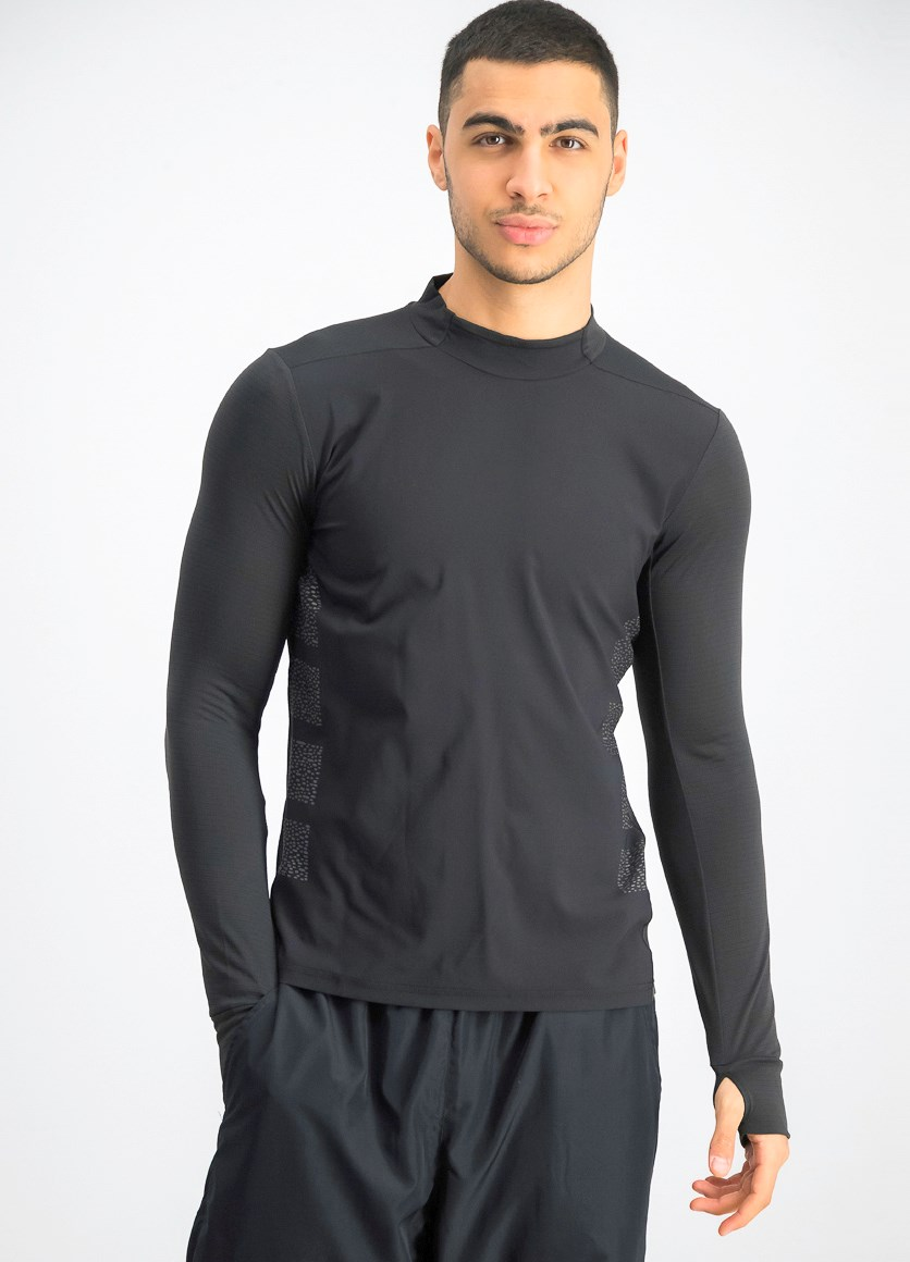 Men's Supernova Top Longsleeves, Black