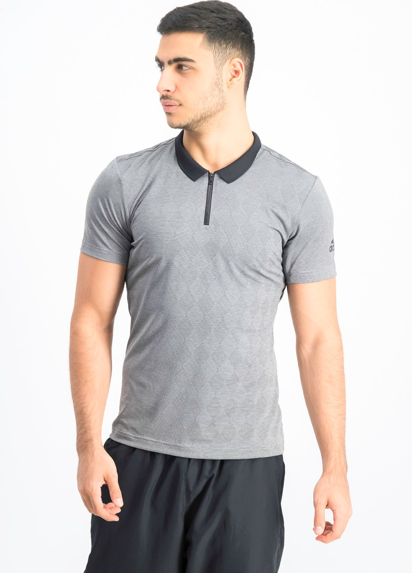Men's Tennis Training Polo Shirt, Gray