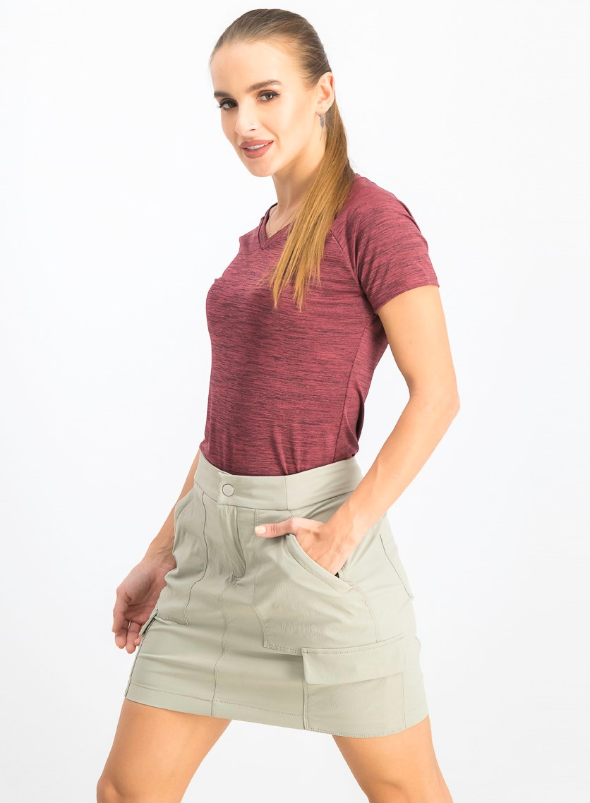 Women's FreeLift Fitted Tee, Noble Maroon Heather