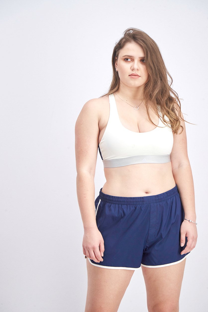 Women's Training Bra, Off White/Ink