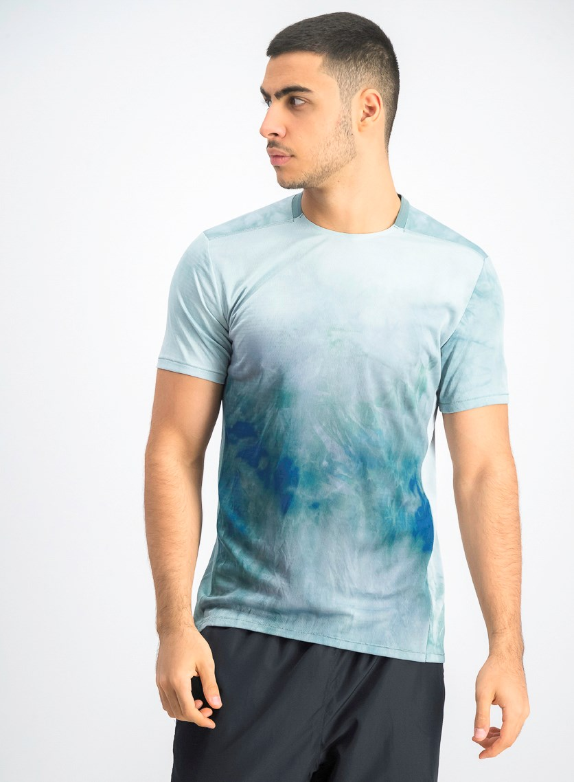 Men's Tie Dye Running Shirt, Green