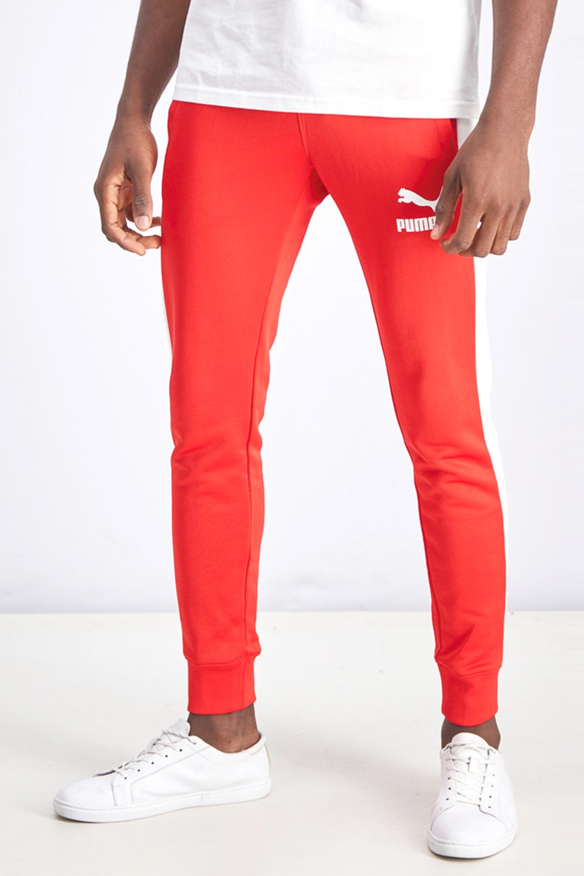 Men's Iconic Track Pants, Red/White