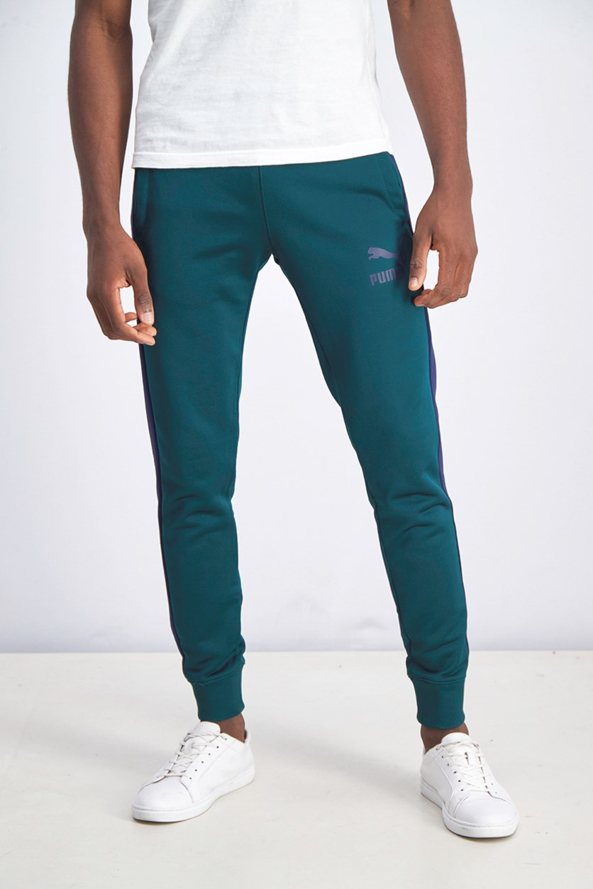 Men's Iconic Track Pants, Green/Blue