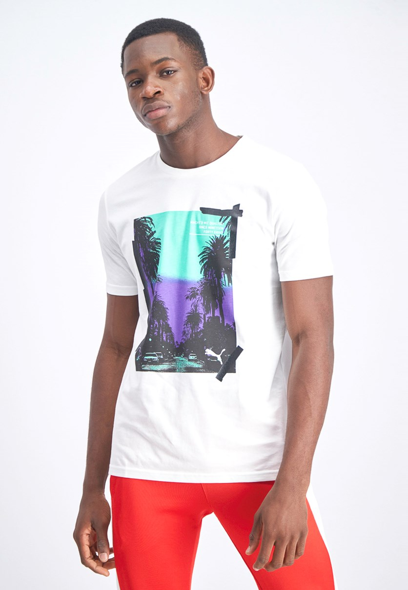Men's Graphic Palms T-Shirt, White