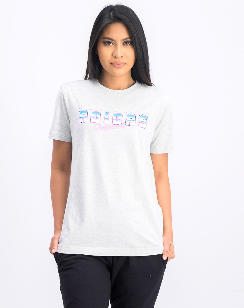 Women's Graphic Tee Sportswear, Grey