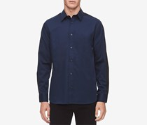 Men's Contrast Stripe Shirt, Navy
