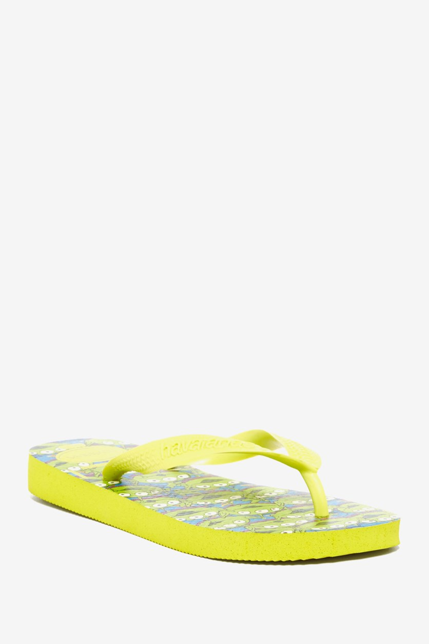 Kids Boys Toy Story Flip Flop, Neon Yellow