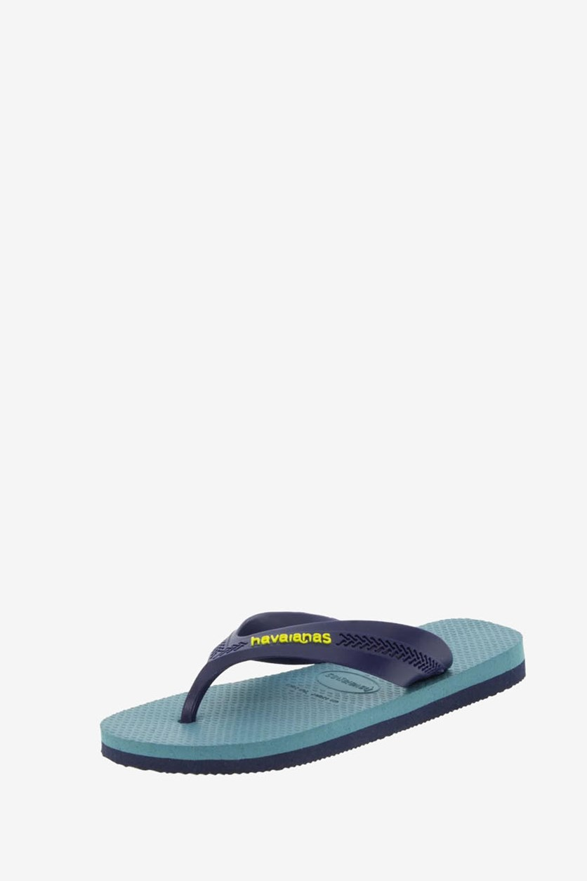 Toddler Boys Max Flip Flop, Navy Blue/Mineral Blue