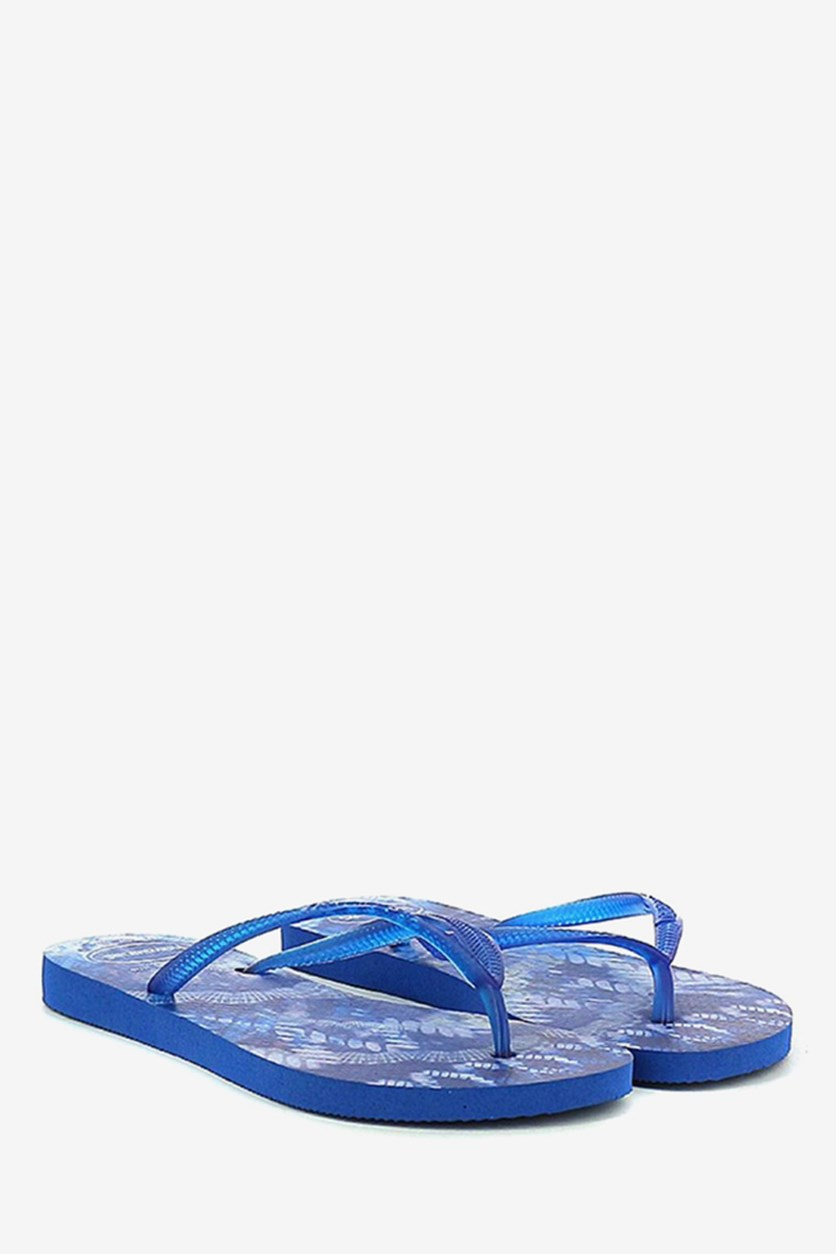 Kids Girls' Slim Tie Dye Slippers, Blue Star