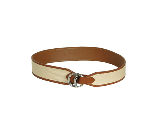 Ralph Lauren Women's Thick Width Faux Leather Belt, Beige