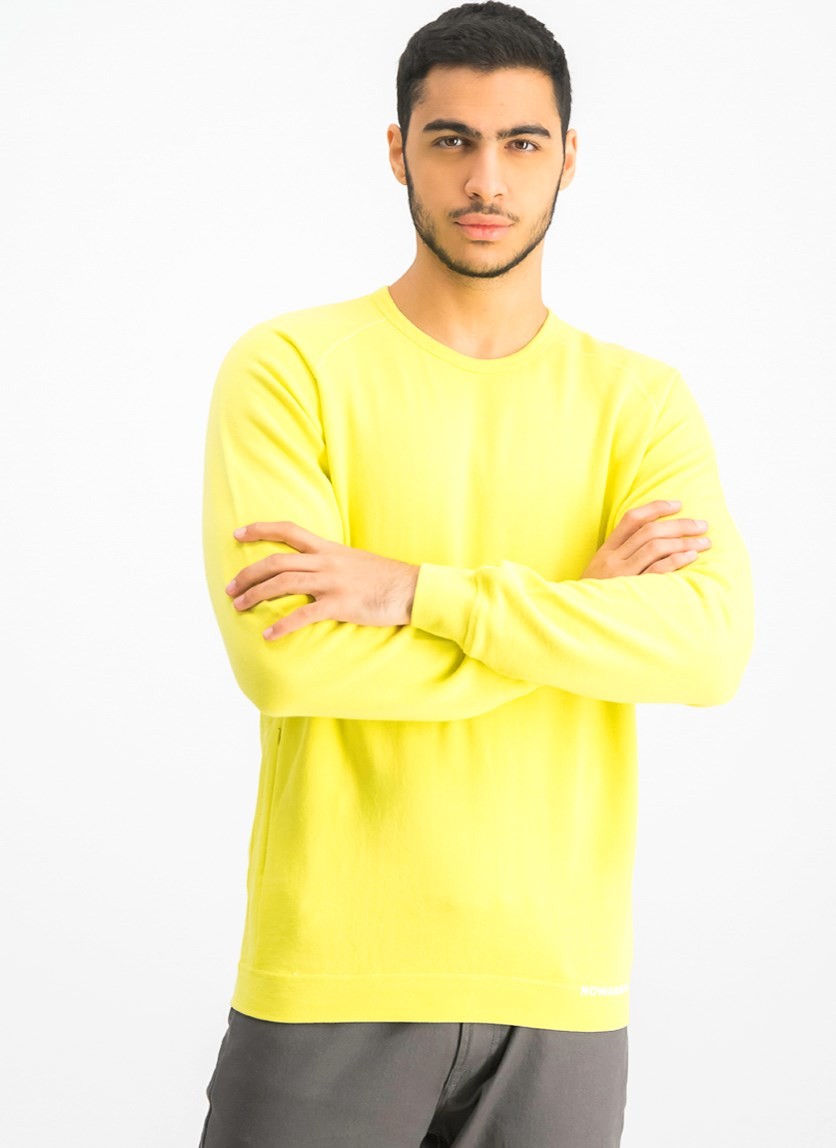 Men's Longsleeve Sweatshirt, Acacia Yellow