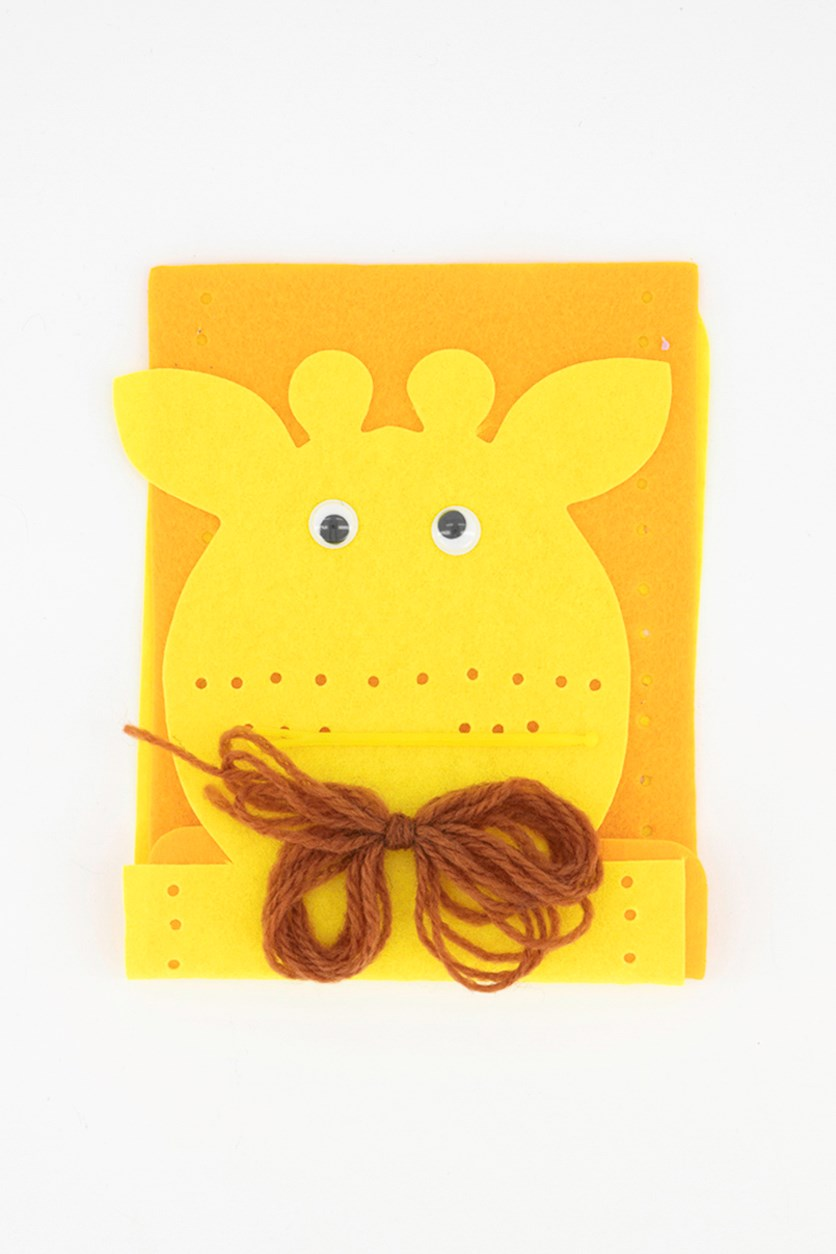 Felt Bag Craft Set Little Giraffe, Yellow/Orange