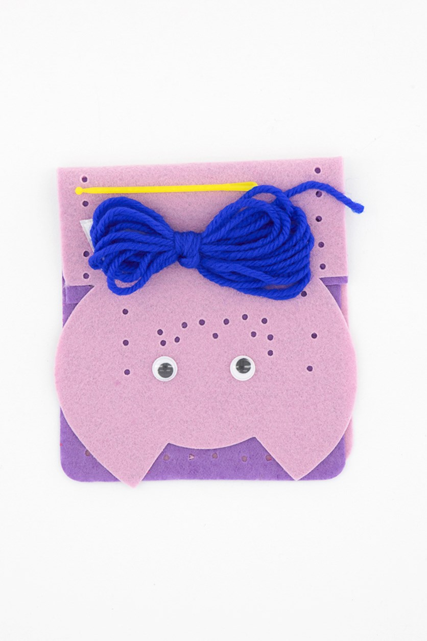 Felt Bag Craft Set Little Cat, Pink/Purple
