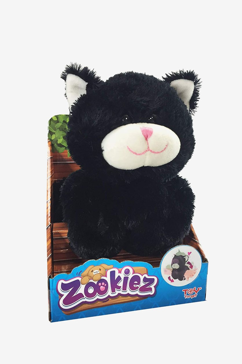 Zookiez 20 cm Kitten Junior Soft Toy, Black