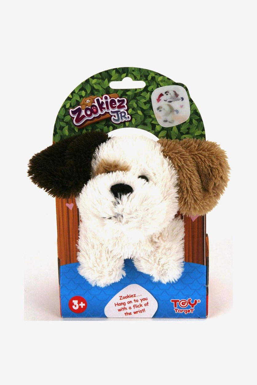Zookiez 20 cm Dog Junior Soft Toy, White/Black/Brown