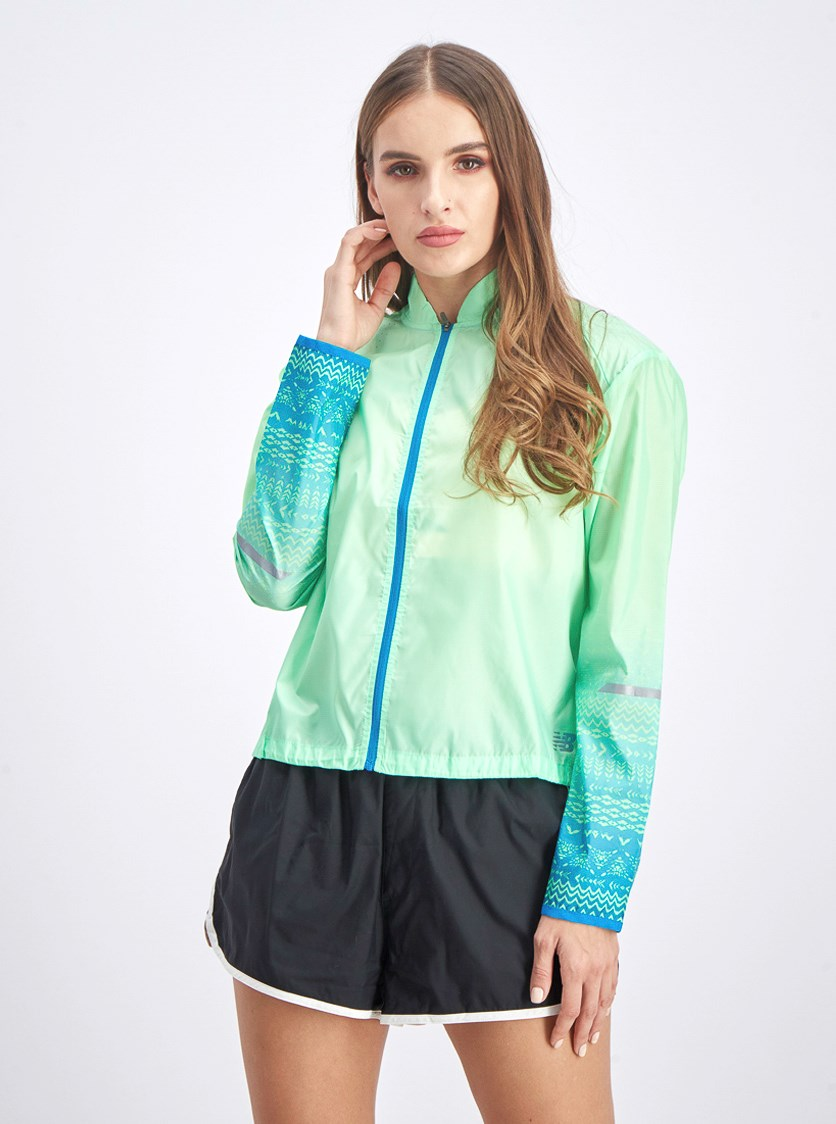 Women's Packable Jacket, Lime Green