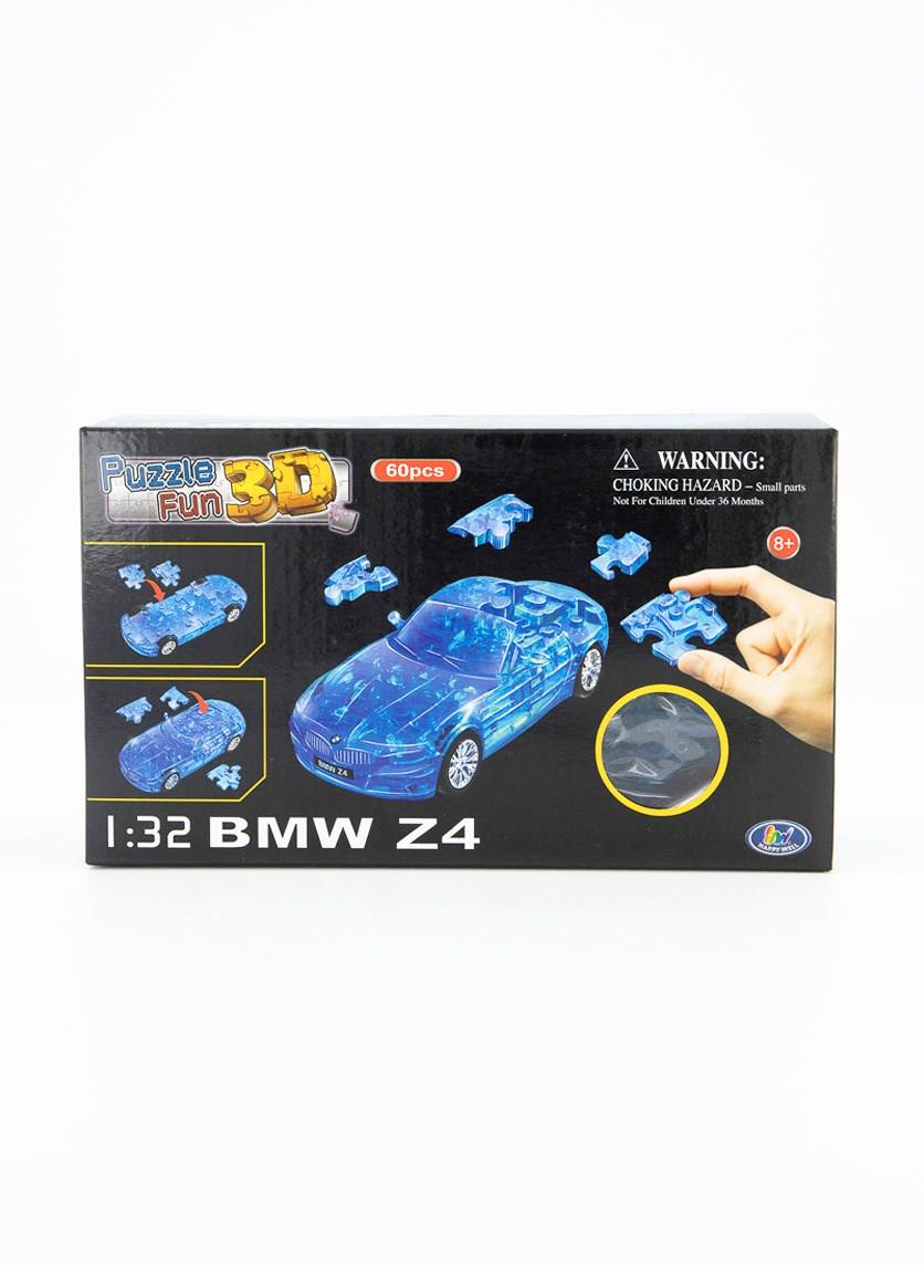 Puzzle Fun 3D BMW Z4, Transparent Blue
