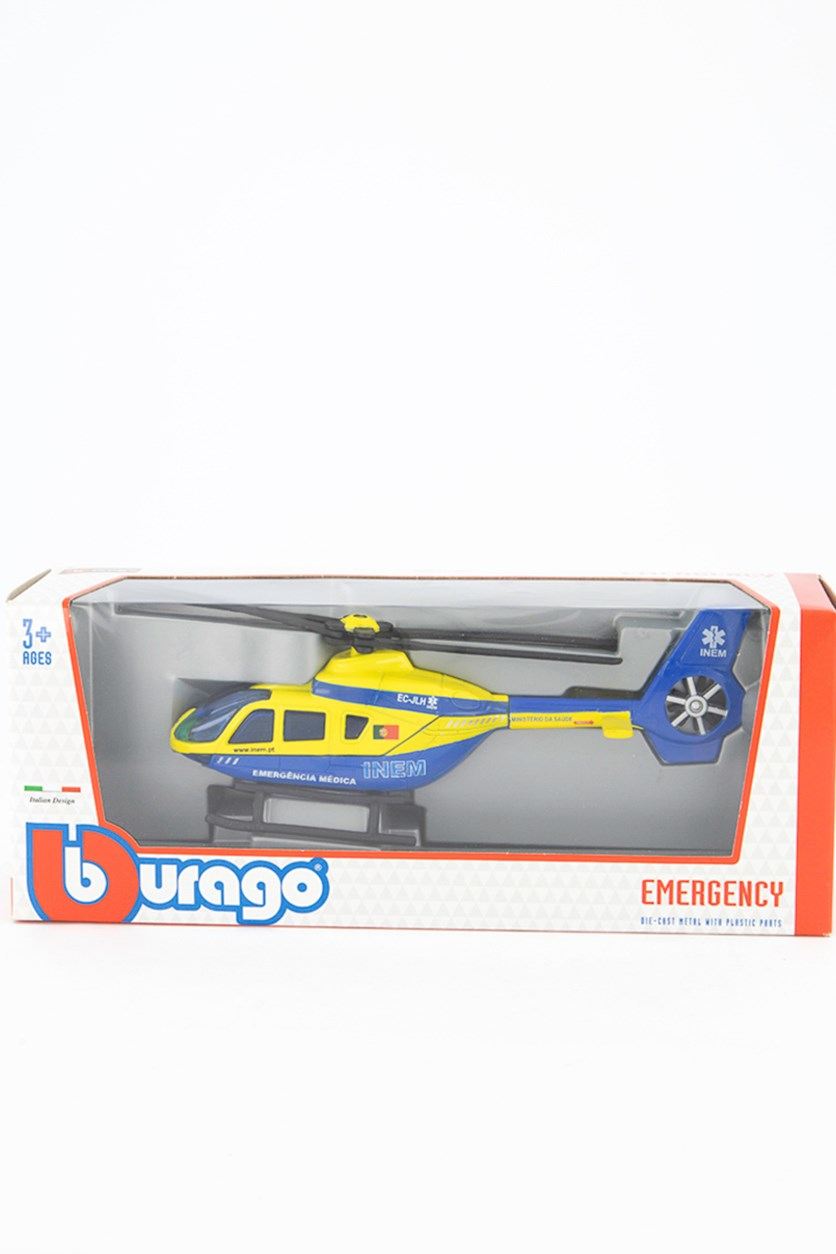 Boy's Medical Emergency Police Helicopter, Blue