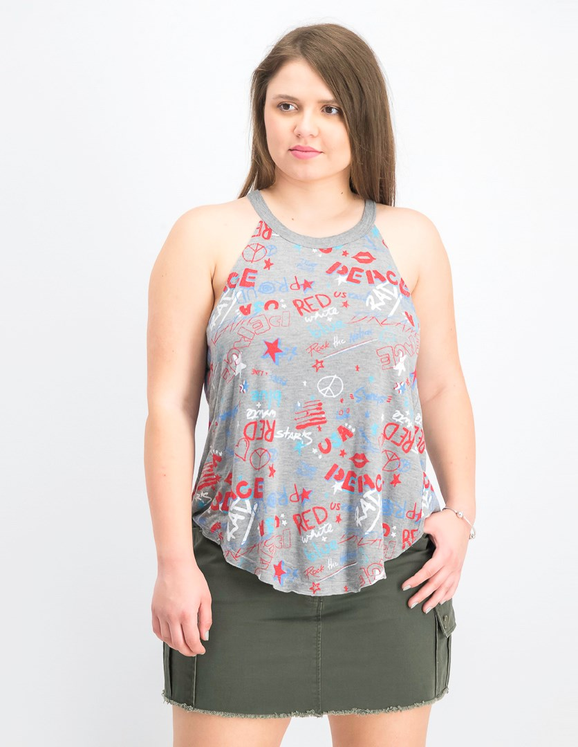 Women's Sleeveless Top, Heather Grey