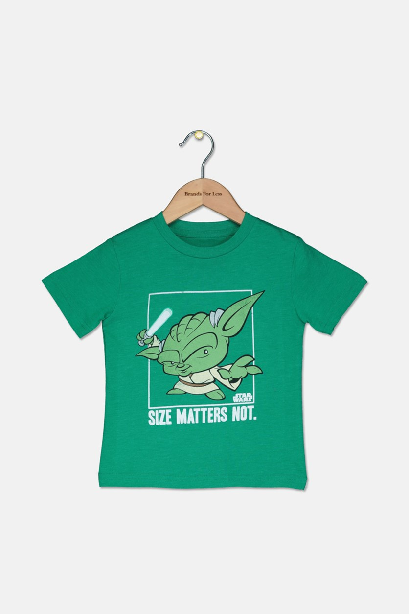 Toddler Boys' Size Matters Not Tee, Green Heather