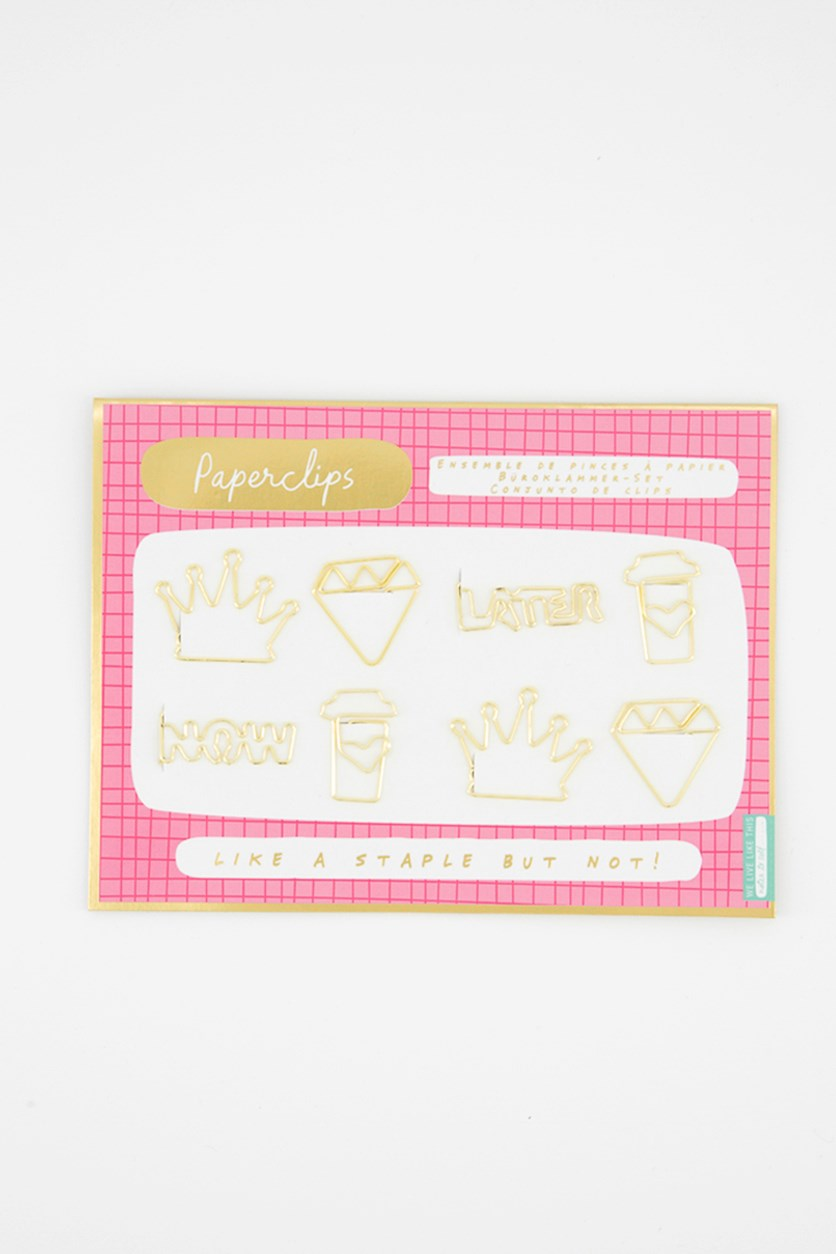 Notes To Self Fancy Paper Clips, Gold
