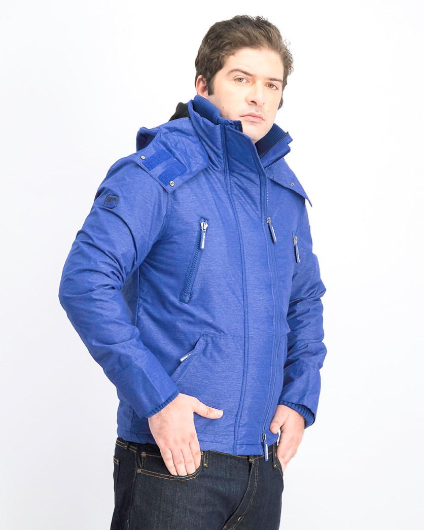 Men's Full Zip Hoodie Jacket, BLue