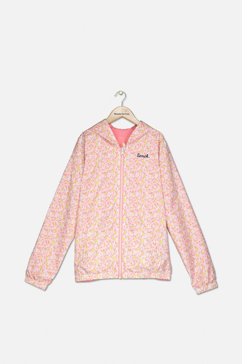 Girl's Reversible Windbreaker, Pink