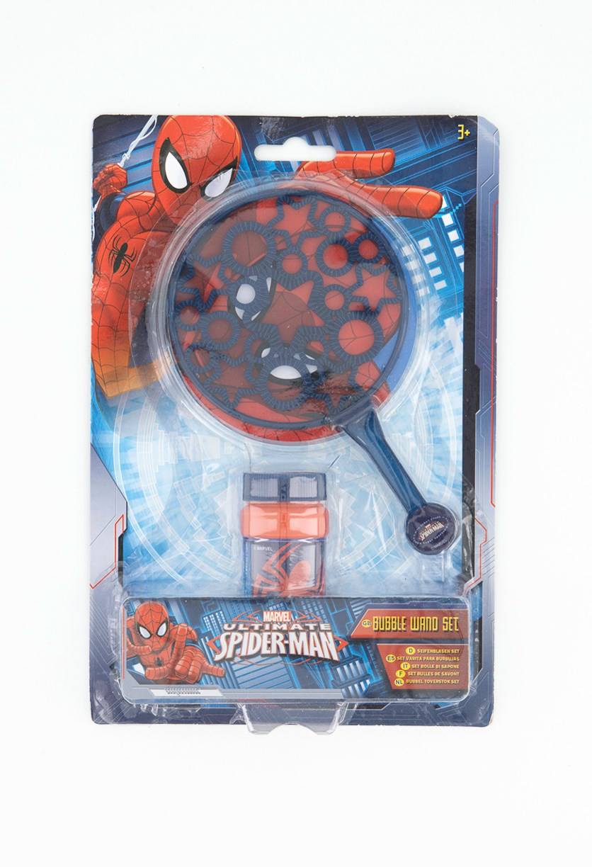 Spiderman Small Bubble Wand Set, Blue/Red