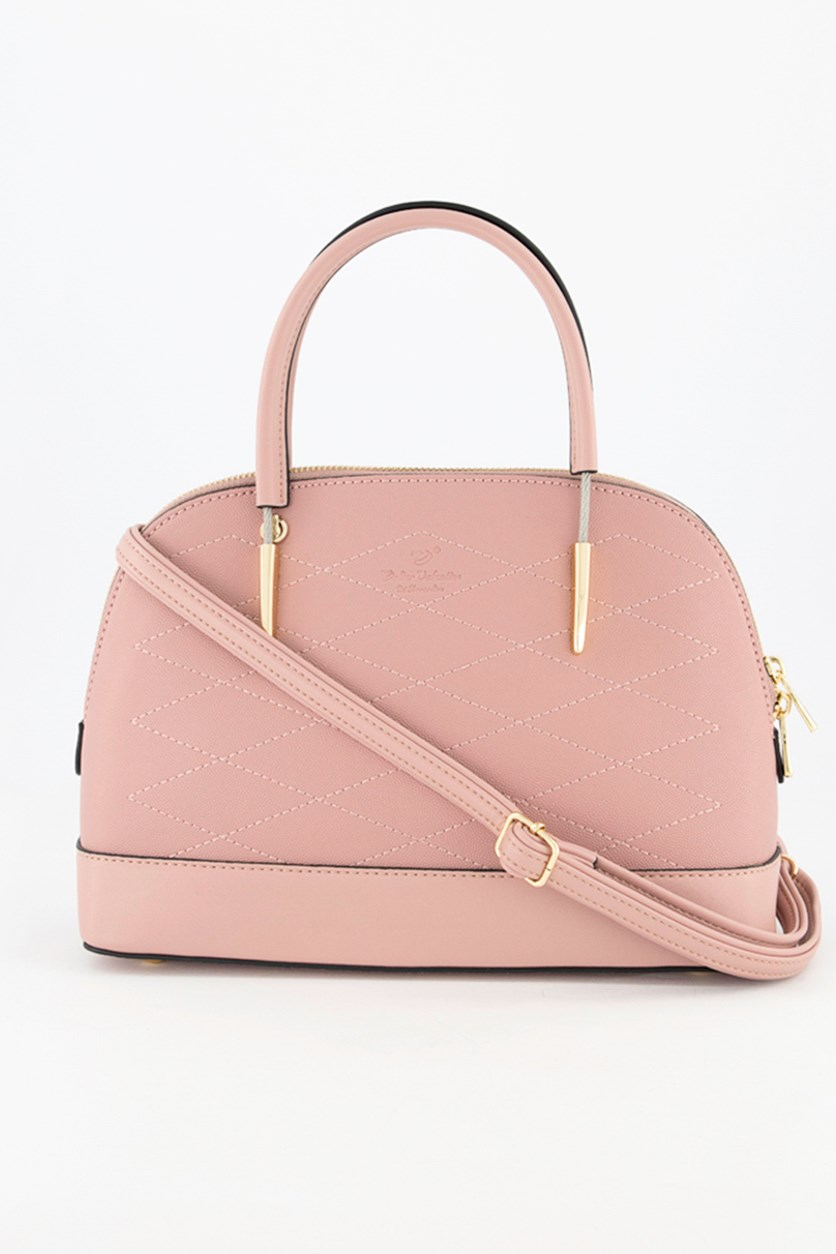 Women's Textured Satchel Bags, Pink