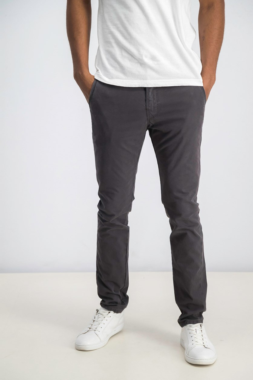 Men's Slim Straight Pants, Carbon Grey