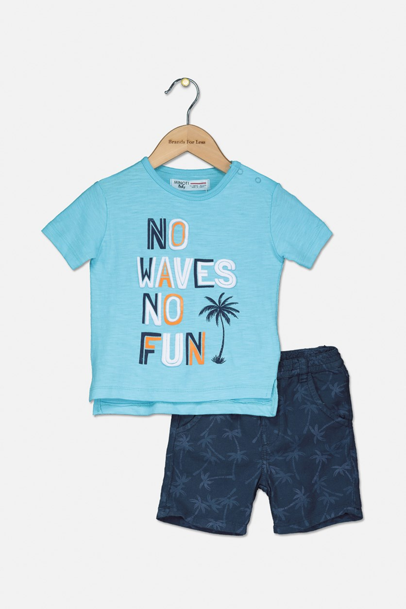 Toddler Boys 2-Pc T-shirt & Short Set, Blue