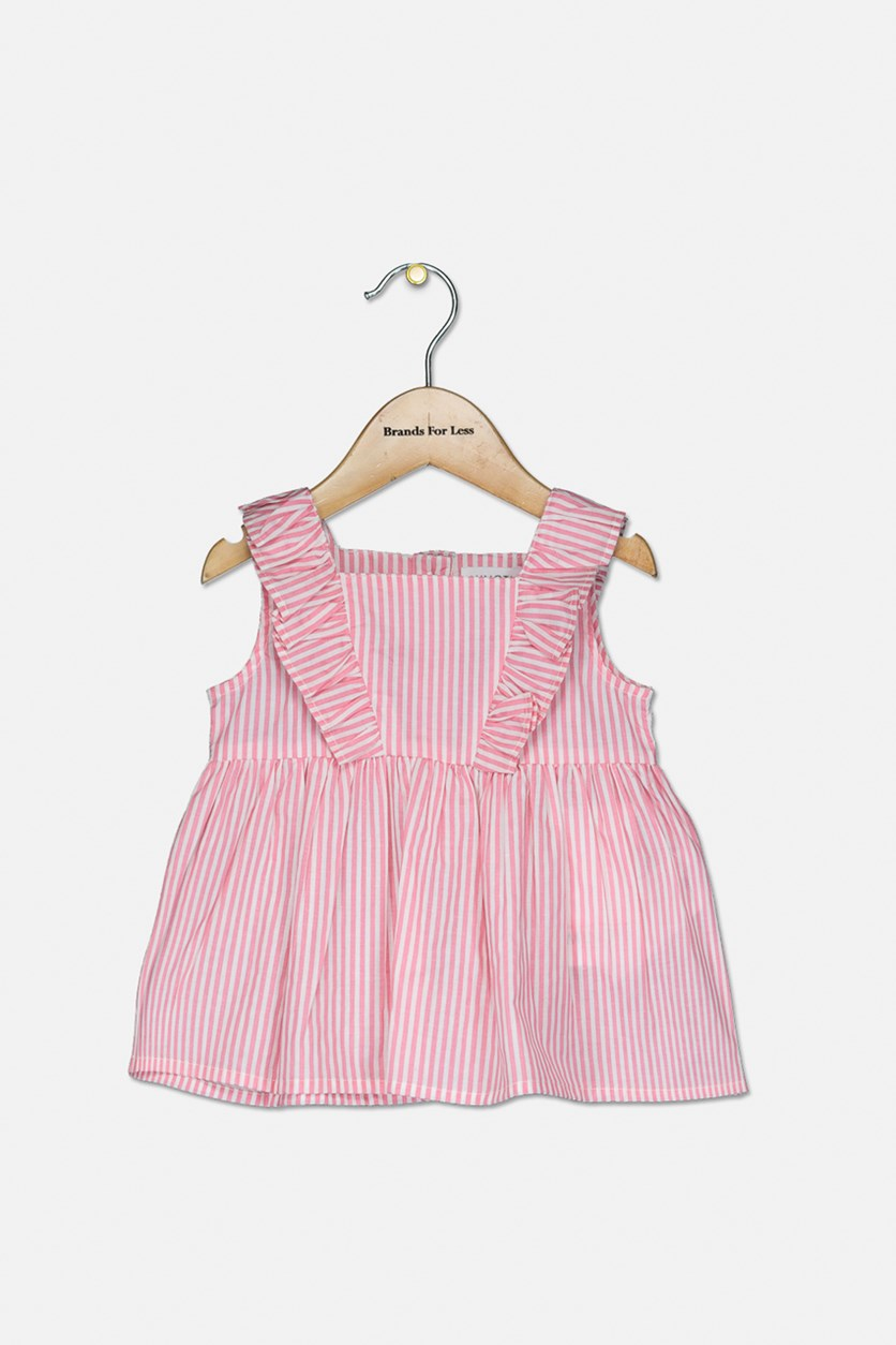 Toddler Girl's Striped Tops, Pink/White