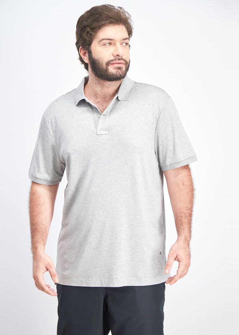 Men's Shortsleeve Polo Shirt, Light Grey