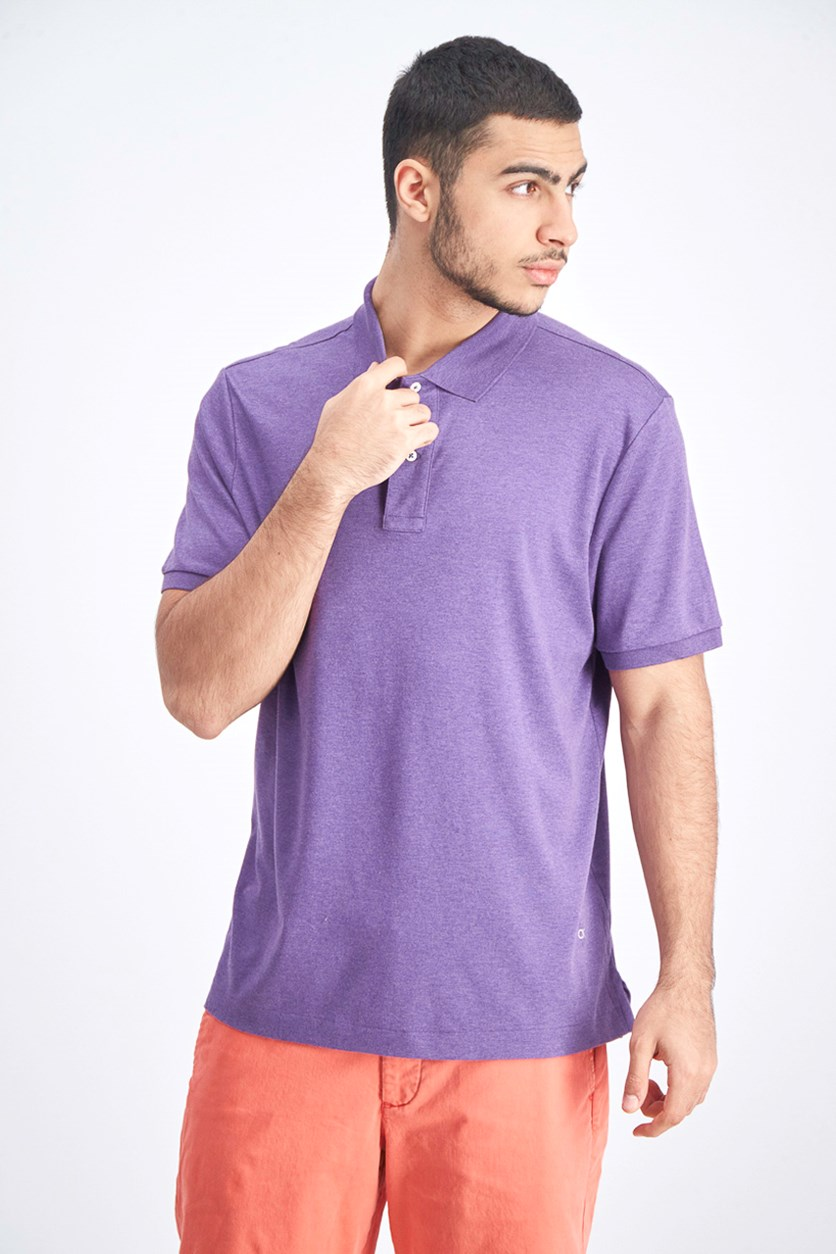 Men's Plain Shortsleeve Polo Shirt, Purple