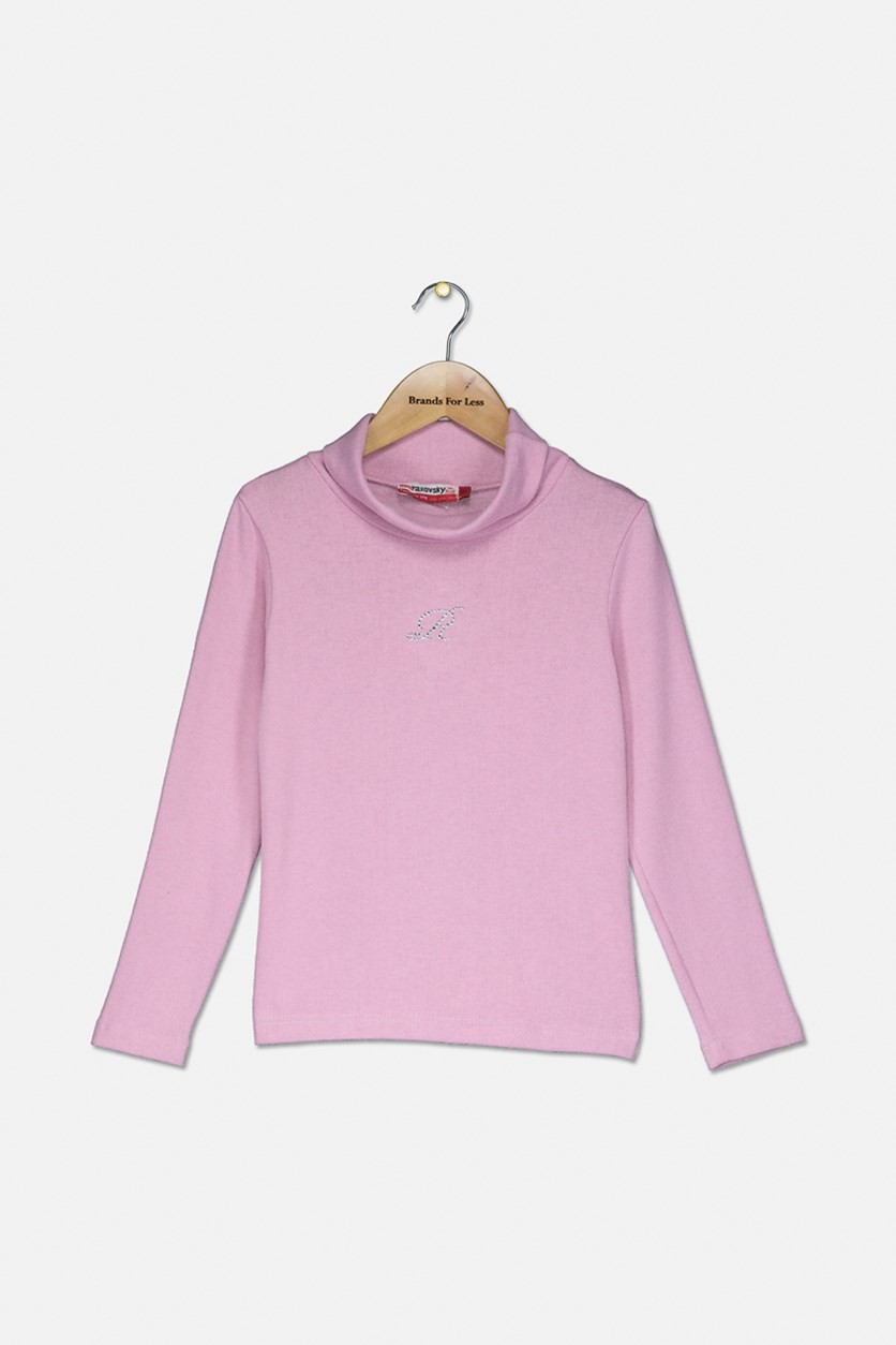 Girl's Long Sleeve Sweater, Pink