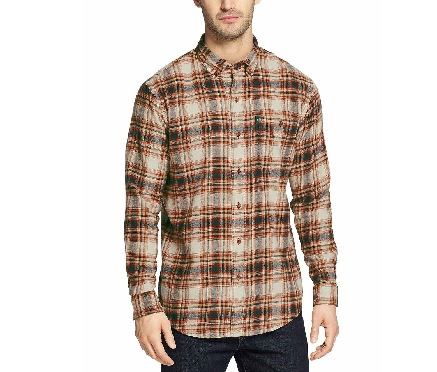 Men's Fireside Flannel Shirt, Beige