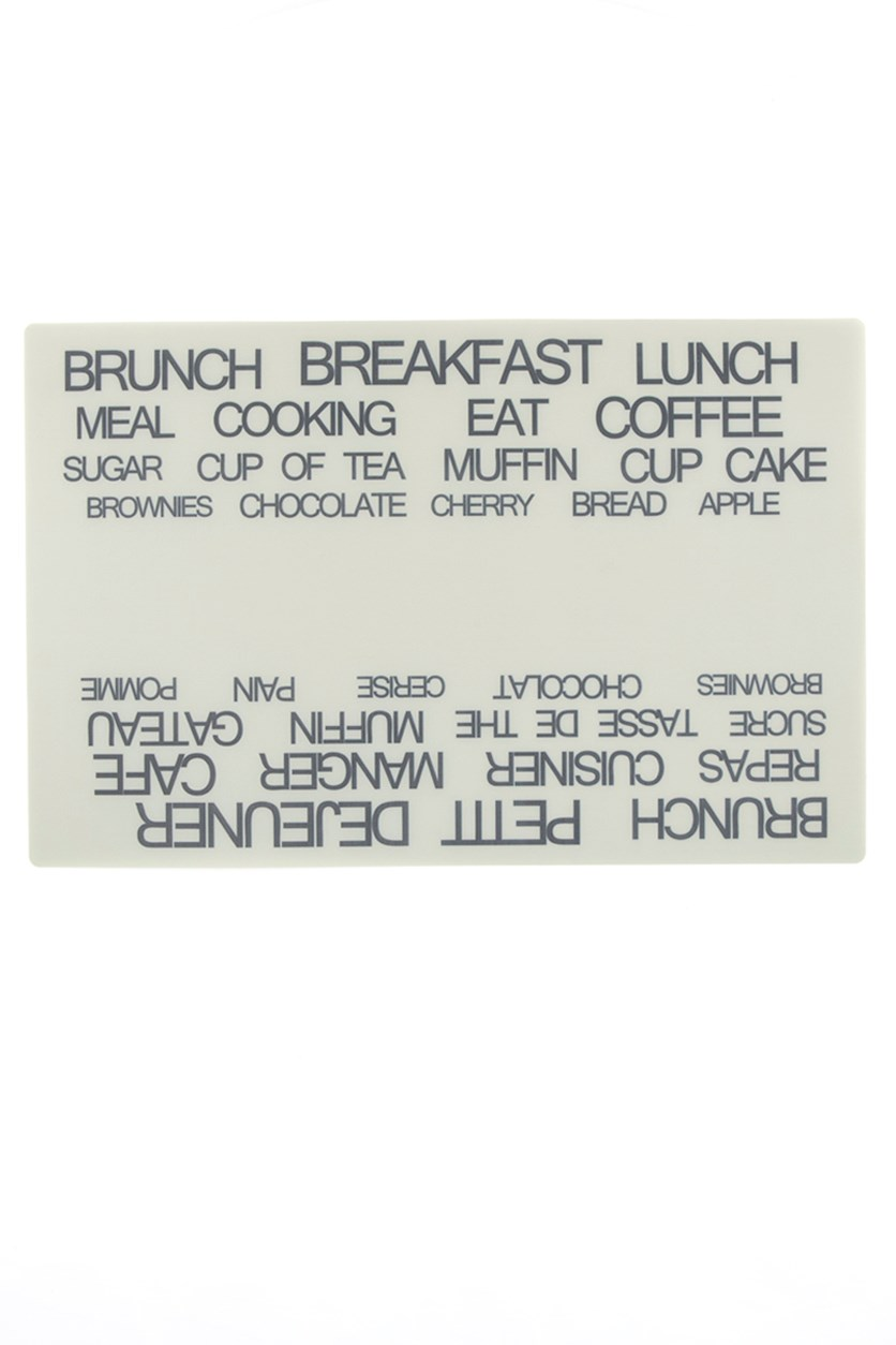 Placemat With Text 44X28.5 Cm, Grey