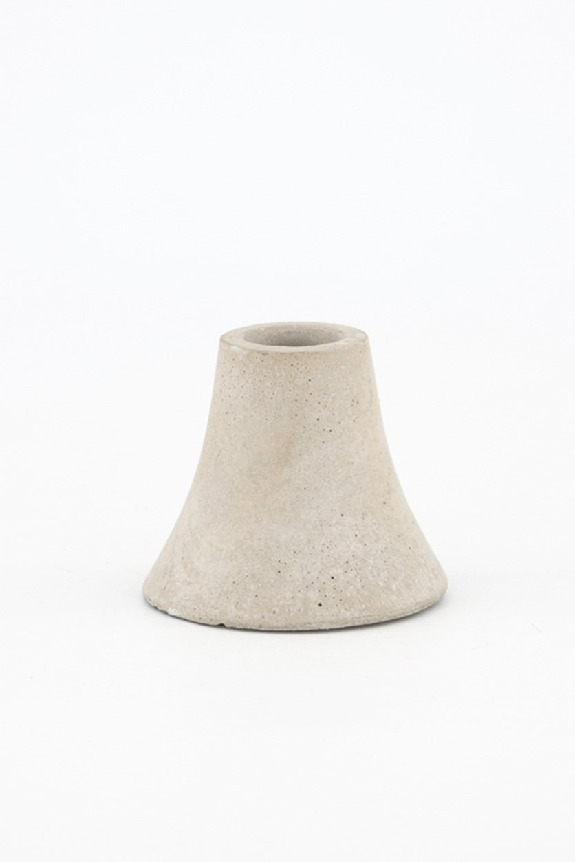 Candleholder Cement, Grey
