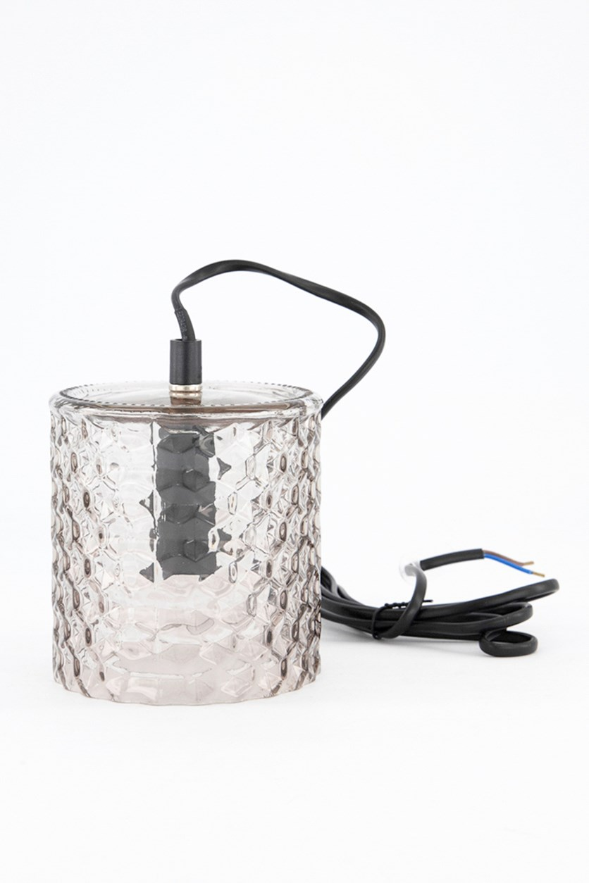 Smoky Glass Lamp, Clear