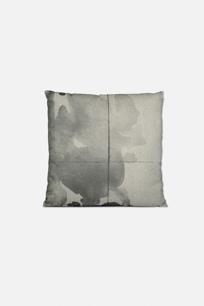 Graphic Pillow Cushion, Gray/Beige
